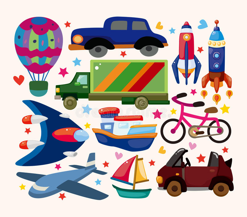 Download Set of transport icons stock vector. Image of space, spaceship - 30675328
