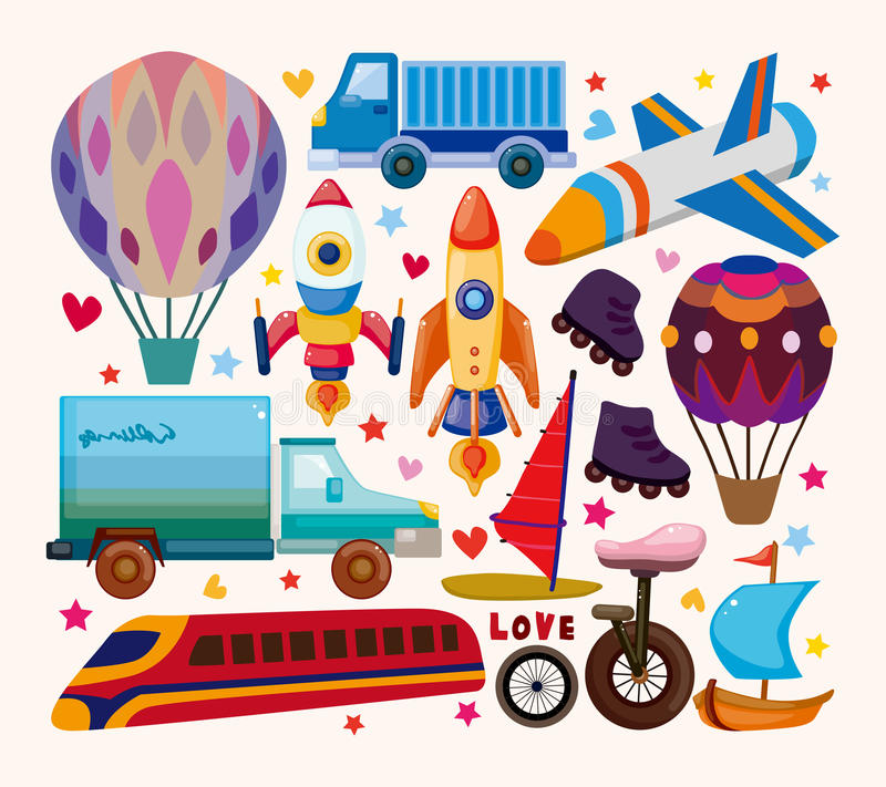 Download Set of transport icons stock vector. Illustration of drawing - 30736996