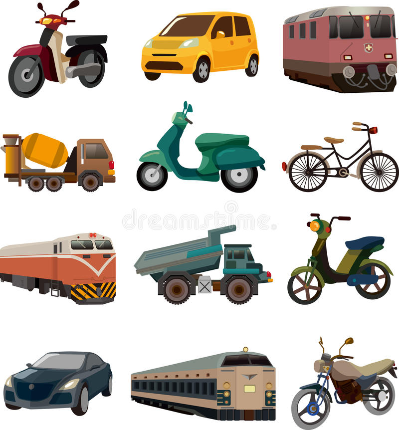 Download Set of transport icons stock vector. Illustration of haul - 30790568