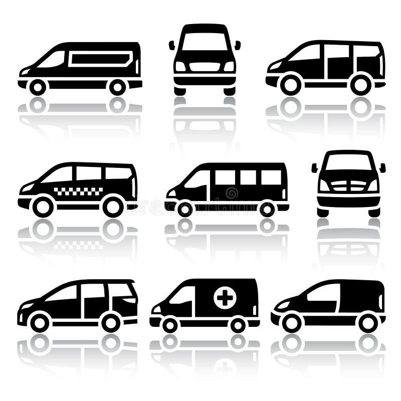 Set of transport icons - Van royalty free stock photos