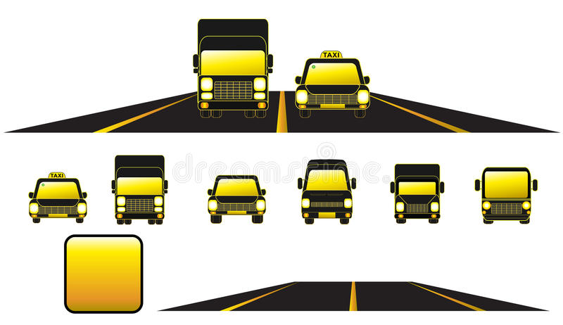 Download Set Transport Object With Road And Button Royalty Free Stock Photography - Image: 21553147