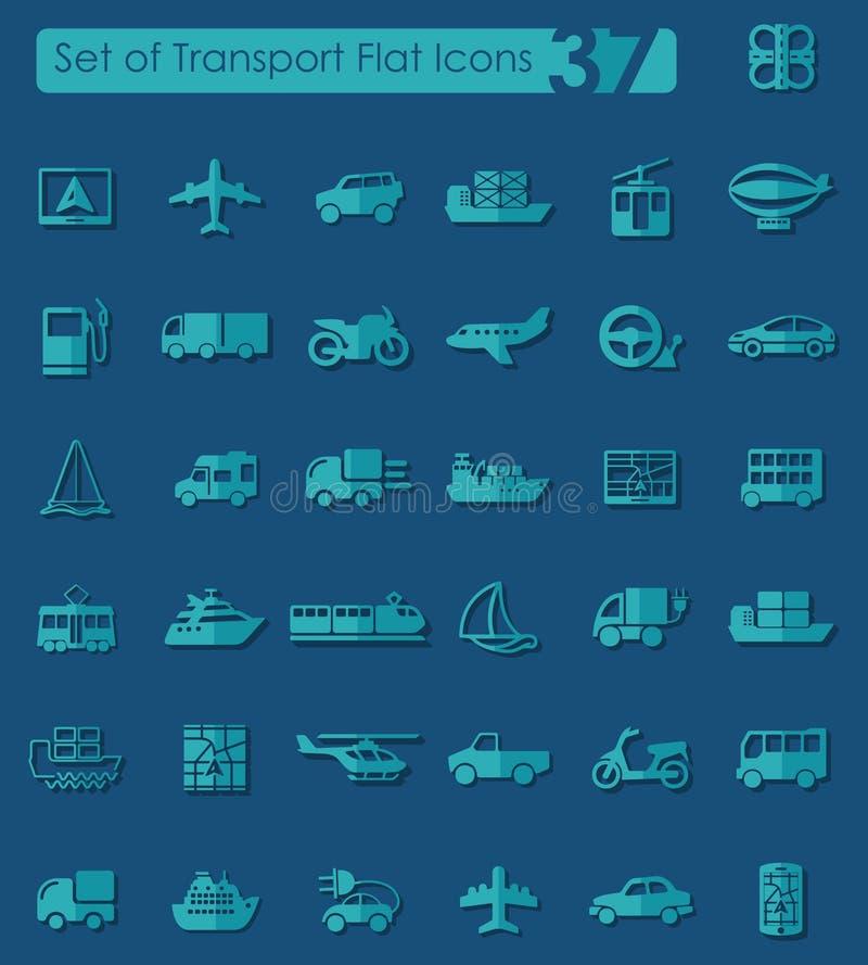 Set Transportikonen stock abbildung