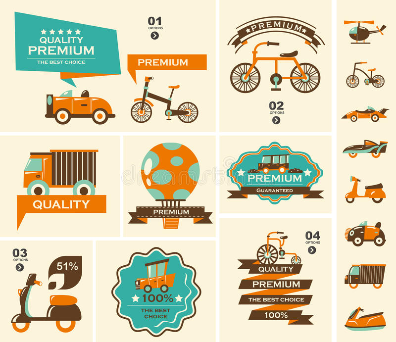 Download Set of travel banners stock illustration. Image of speed - 32980929