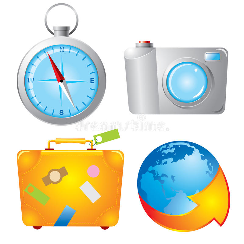 Download Set travel icons stock vector. Image of computer, globe - 12888302