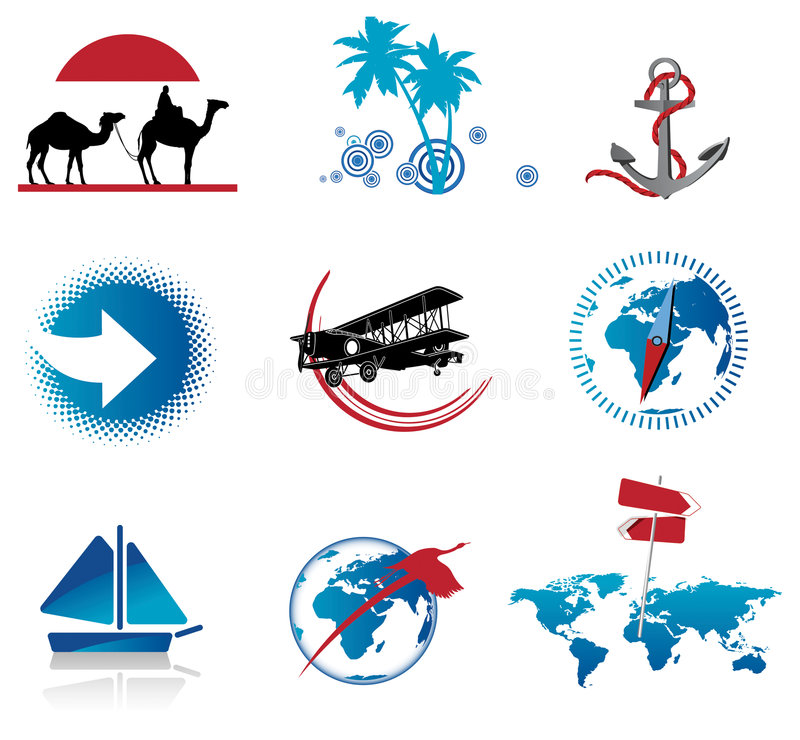 Download Set of Travel Icons stock vector. Image of index, internet - 7292109