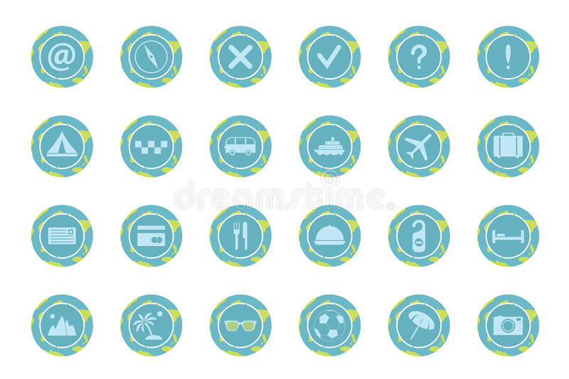Download Set of travel icons. stock vector. Illustration of island - 35298049