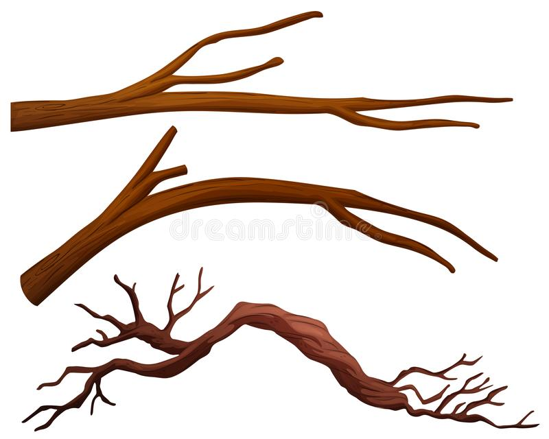 A set of tree branch royalty free illustration
