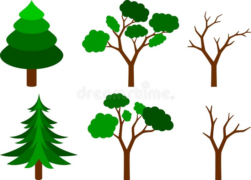 Download Set of trees stock vector. Image of bough, coniferous - 11683769