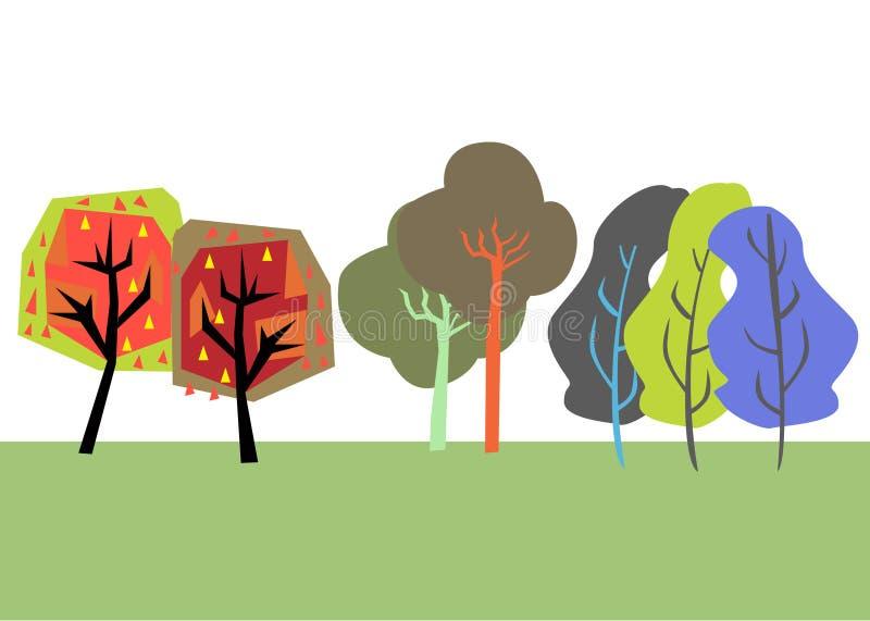 Set of trees stock illustration