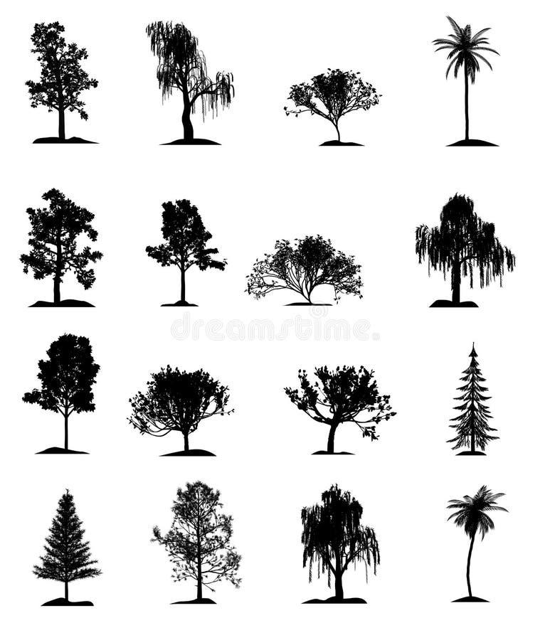 Download Set of trees stock illustration. Illustration of park - 8392897