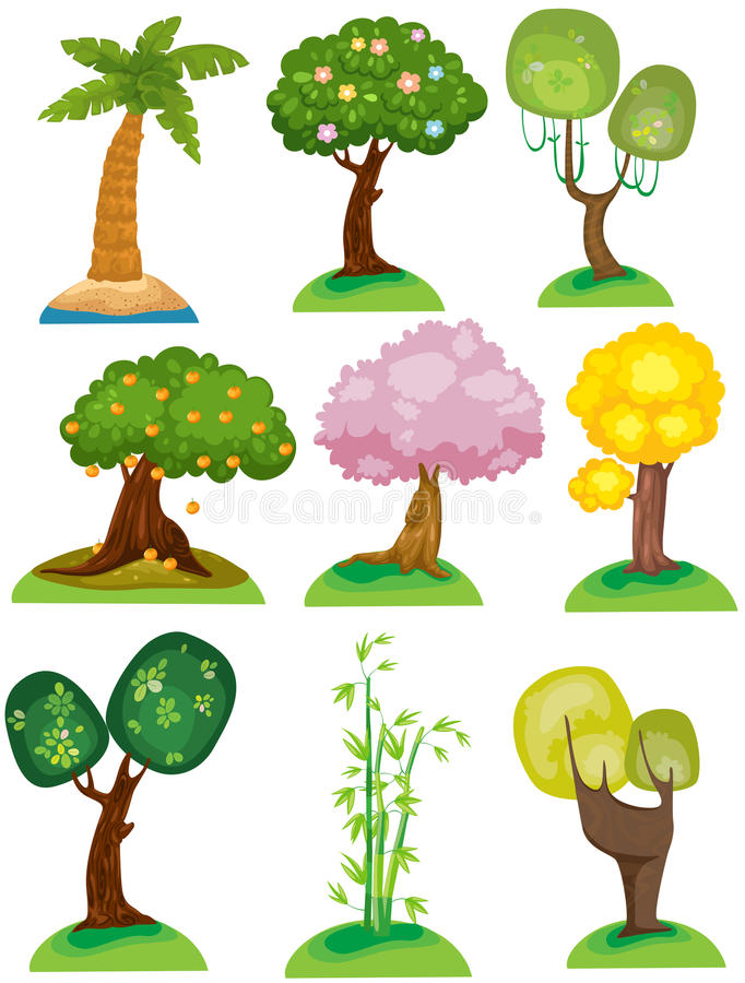 Set of trees vector illustration