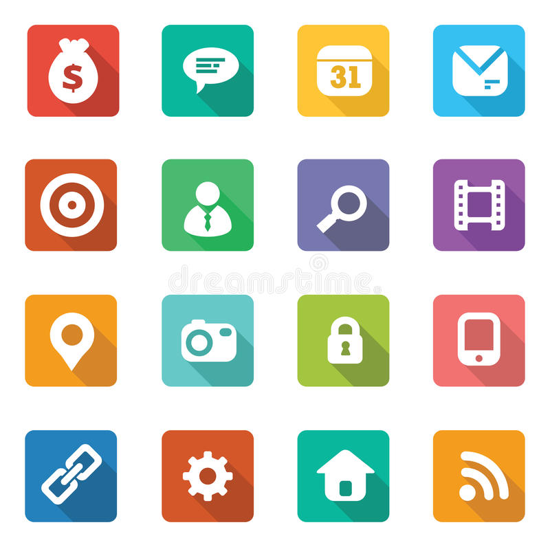 Set of trendy flat icons. For web designers and mobile ui designers