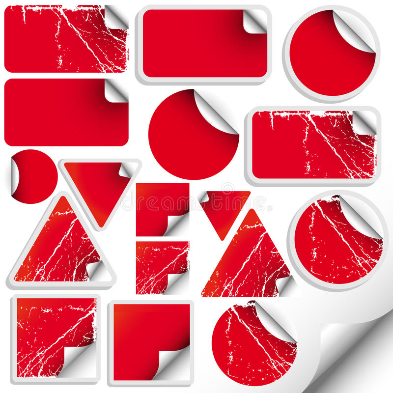 Set of trendy sticker. Vector illustration