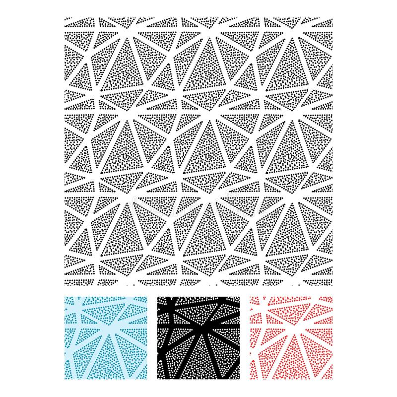 Set of triangles and circles seamless vector pattern royalty free illustration