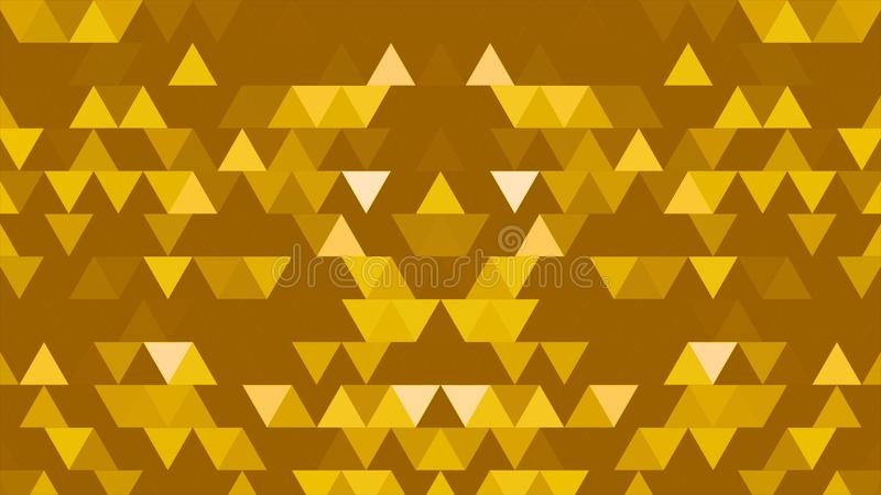 A set of triangles and shapes is moving and changing colors. Three-dimensional random reflective kaleidoscope block royalty free illustration
