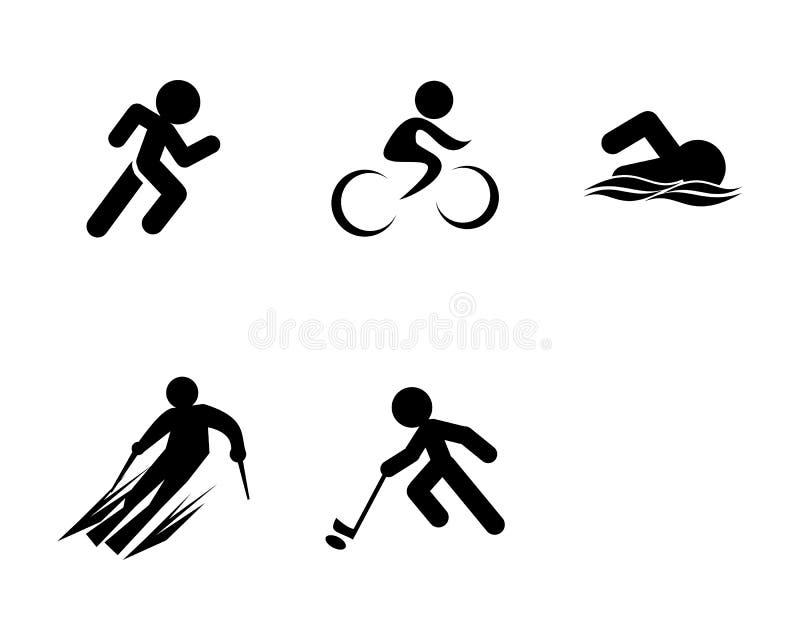 Set of Triathlon Sport Icons vector illustration