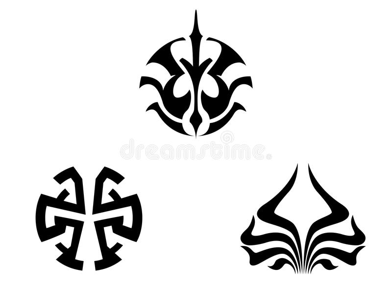 Download Set of tribal tattoos stock vector. Illustration of silhouette - 10660971