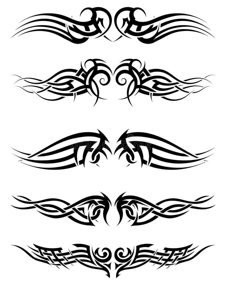 Download Set Tribal Tattoos Stock Vector - Image: 43144238