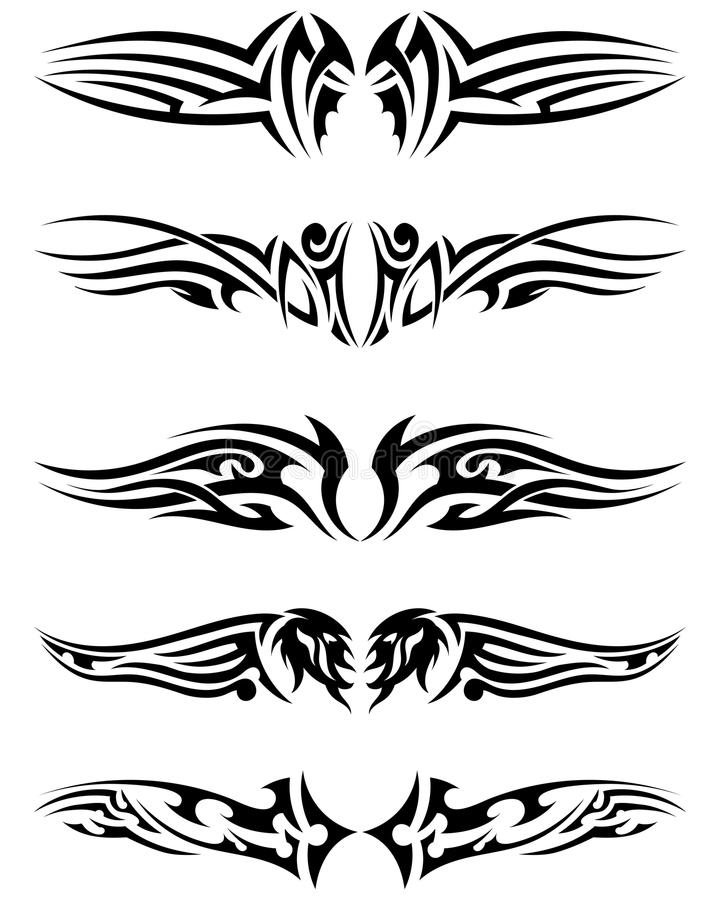 Download Set tribal tattoos stock vector. Illustration of drawing - 43144246
