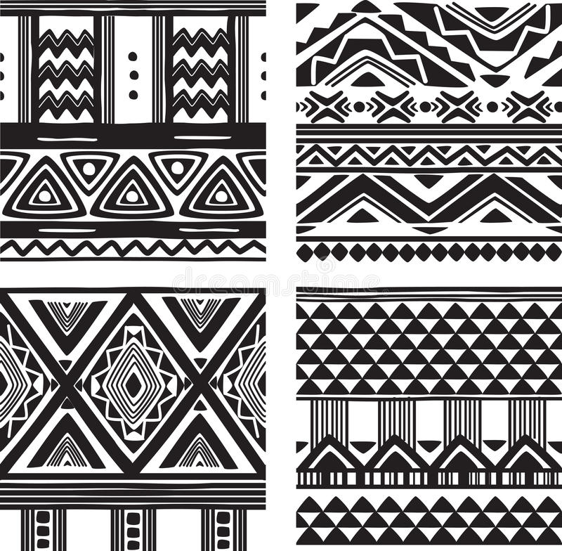 Download Set of tribal texture stock vector. Image of native, fabric - 34500683