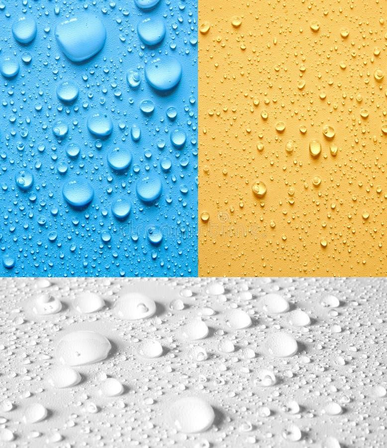 Set Tropfenwasser stockbild