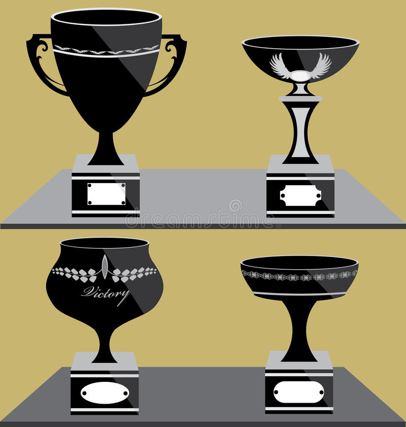 Download Set of Trophies Icon stock vector. Image of icon, symbol - 32402564