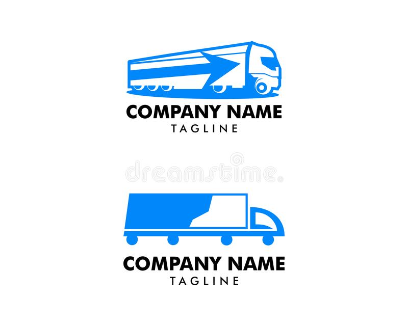 Set of Truck Delivery Cargo Logo design vector template vector illustration