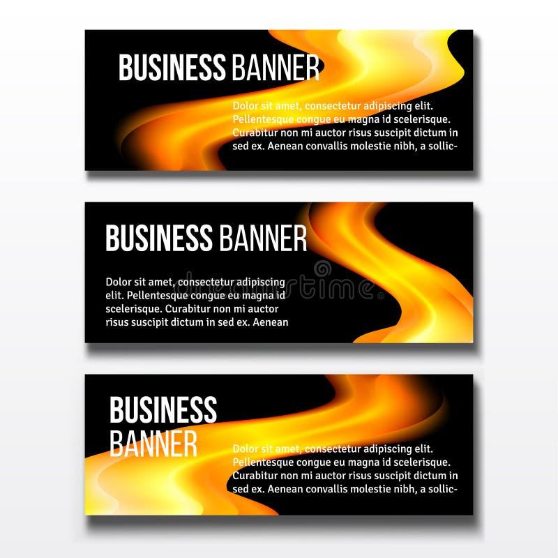 Set trzy biznesowego sztandaru ilustracji