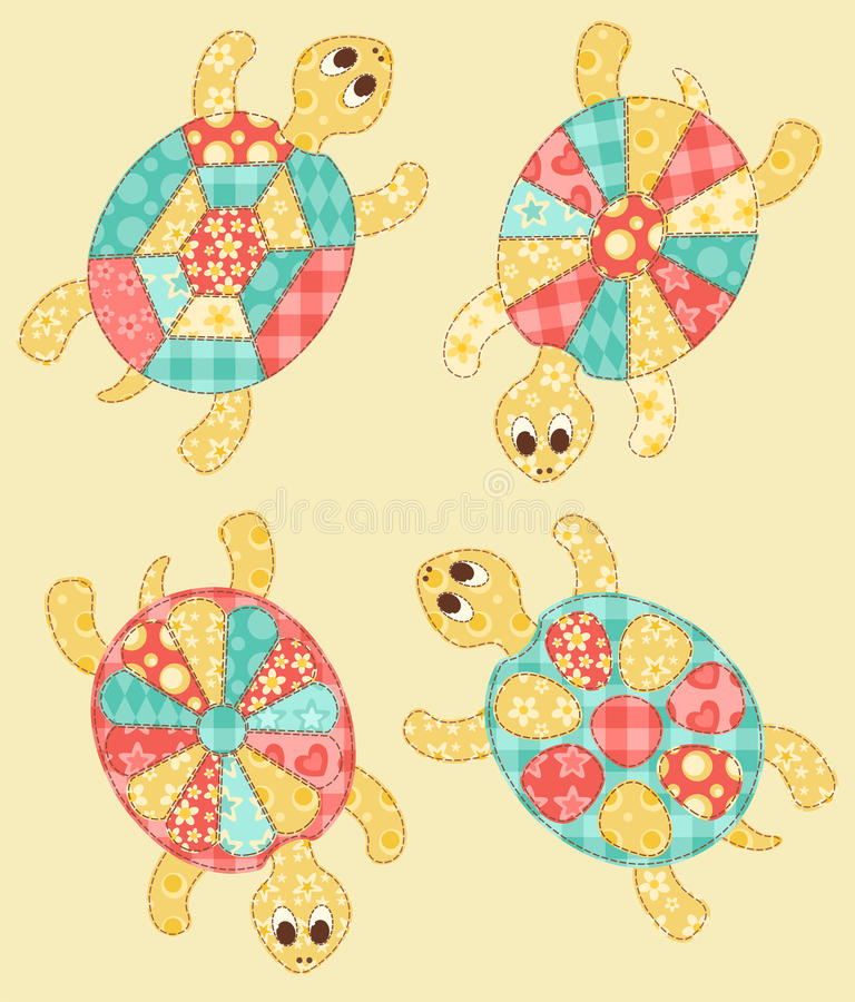 Download Set of turtles. stock vector. Image of illustration, cartoon - 28763107