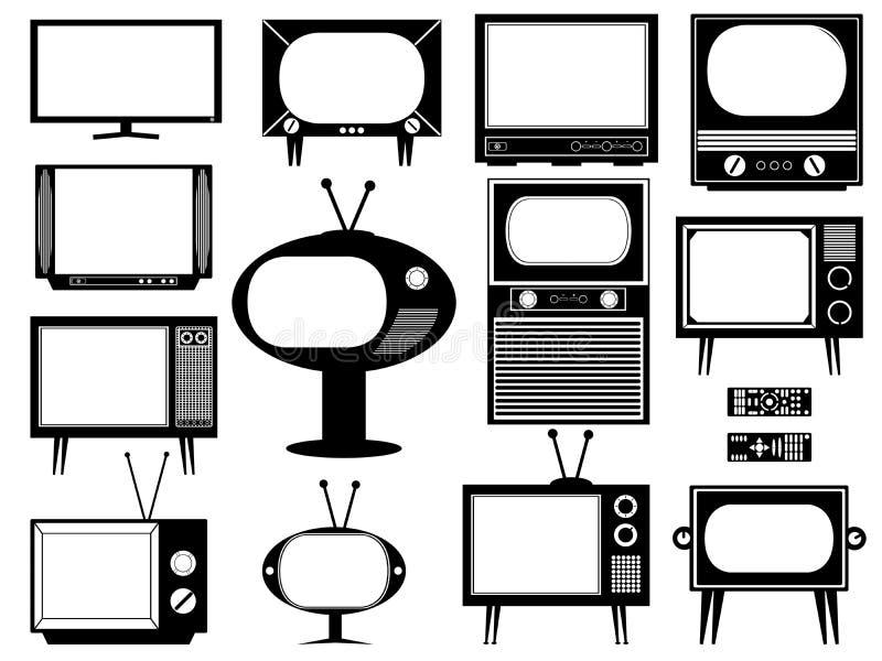 Set of tv royalty free illustration