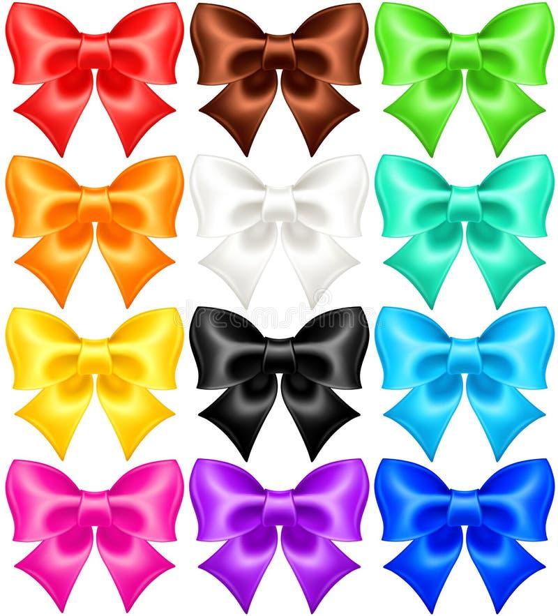 Download Set of twelve festive bows stock vector. Illustration of decoration - 34362212