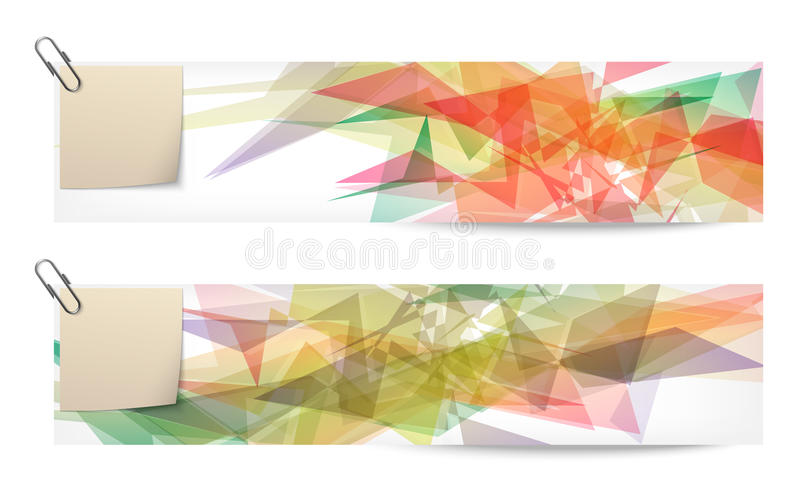 Set of two abstract banners royalty free illustration