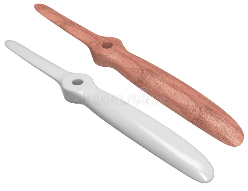 Set Of Two Blades Propellers Stock Photo