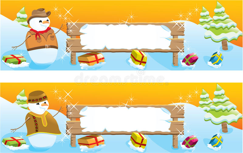 Download Set Of Two Christmas Banners Stock Vector - Illustration: 16823864