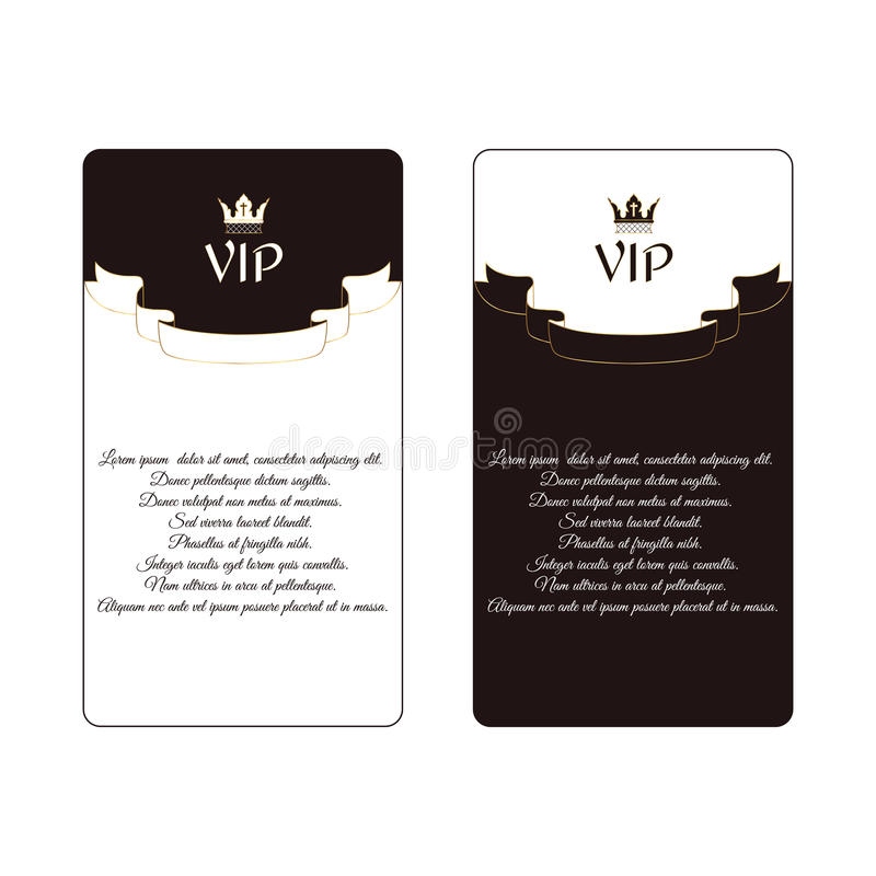Set Of Two Elegant Vertical Discount Cards Of White And Brown Colors ...