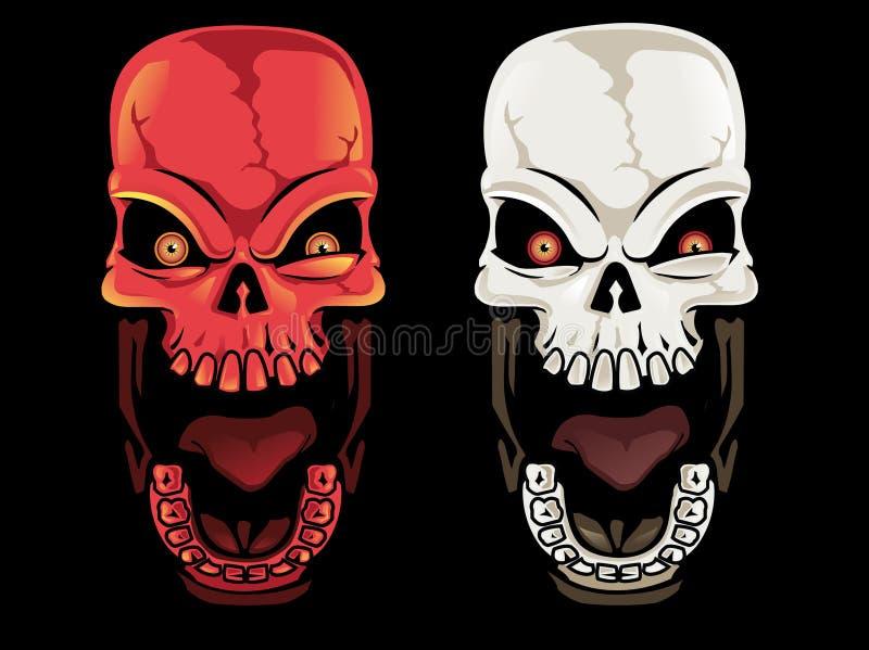 Screaming Skulls stock image