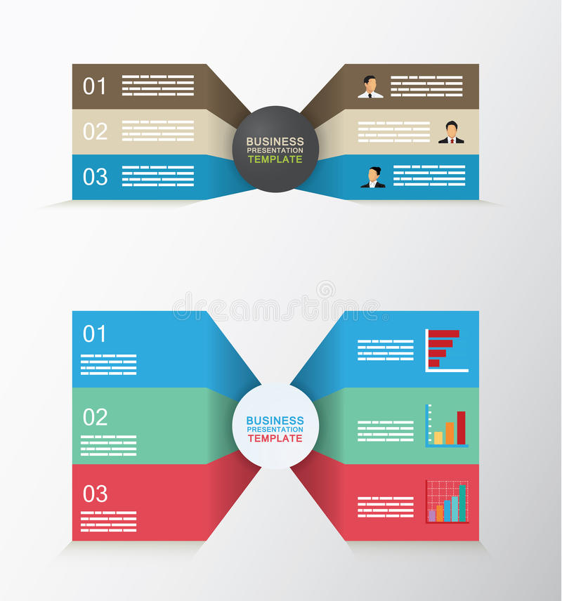 Set of two sided business template royalty free illustration
