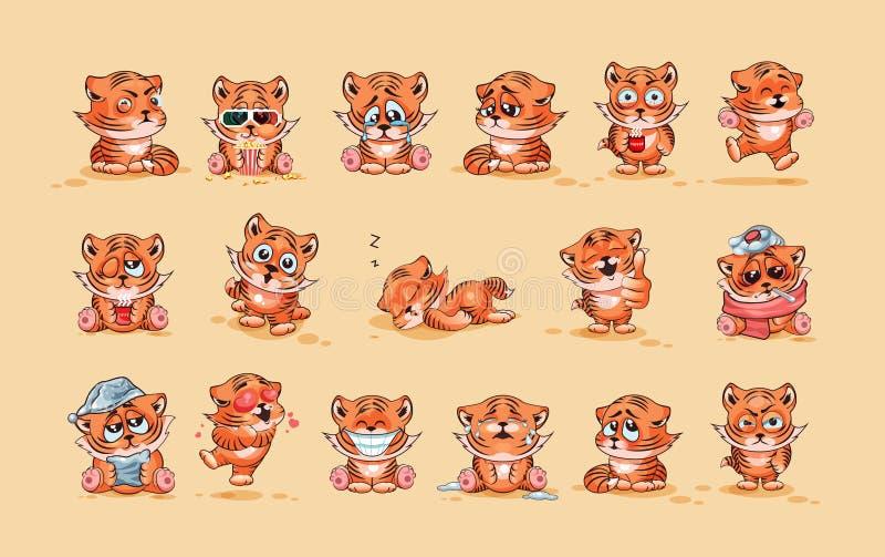Set Tygrysi lisiątka royalty ilustracja