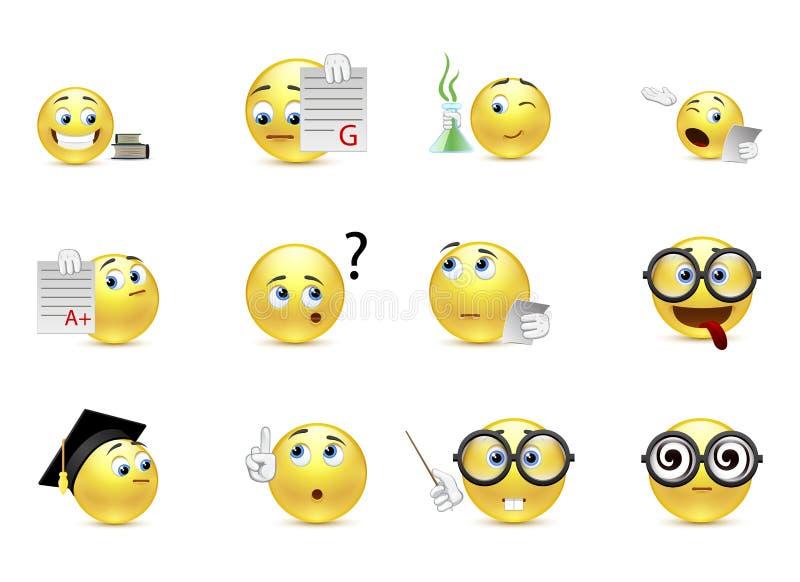 Set uśmiechy studenccy ilustracji
