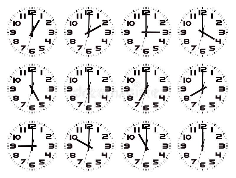 Set Uhren getrennt stock abbildung