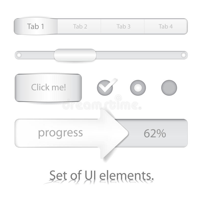 Download Set of UI elements stock illustration. Image of touch - 23588974