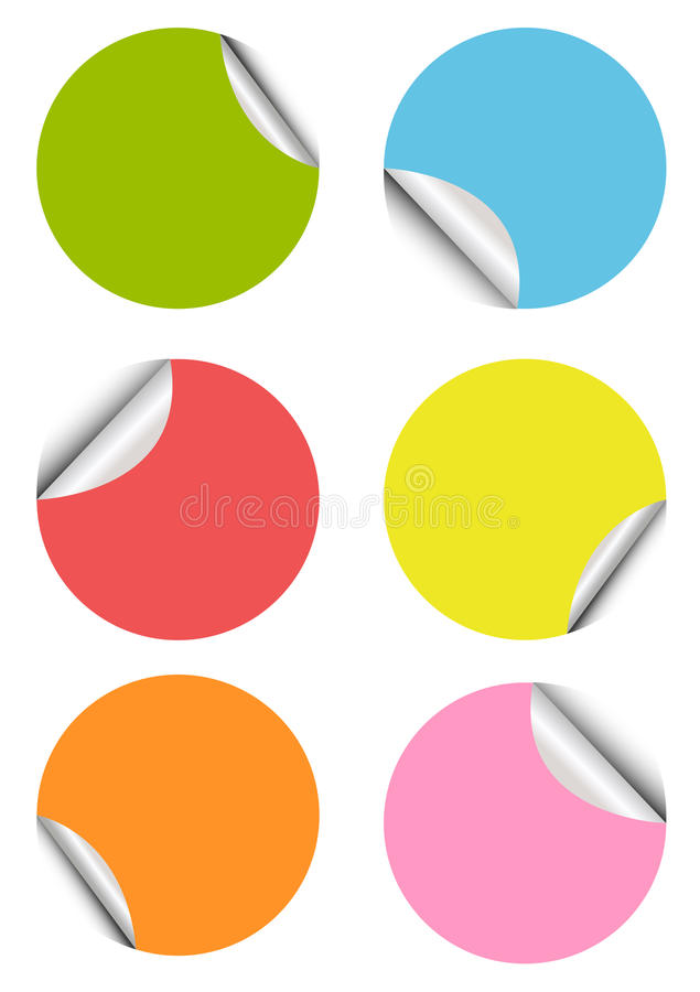 Set unbelegte bunte Aufkleber lizenzfreie abbildung