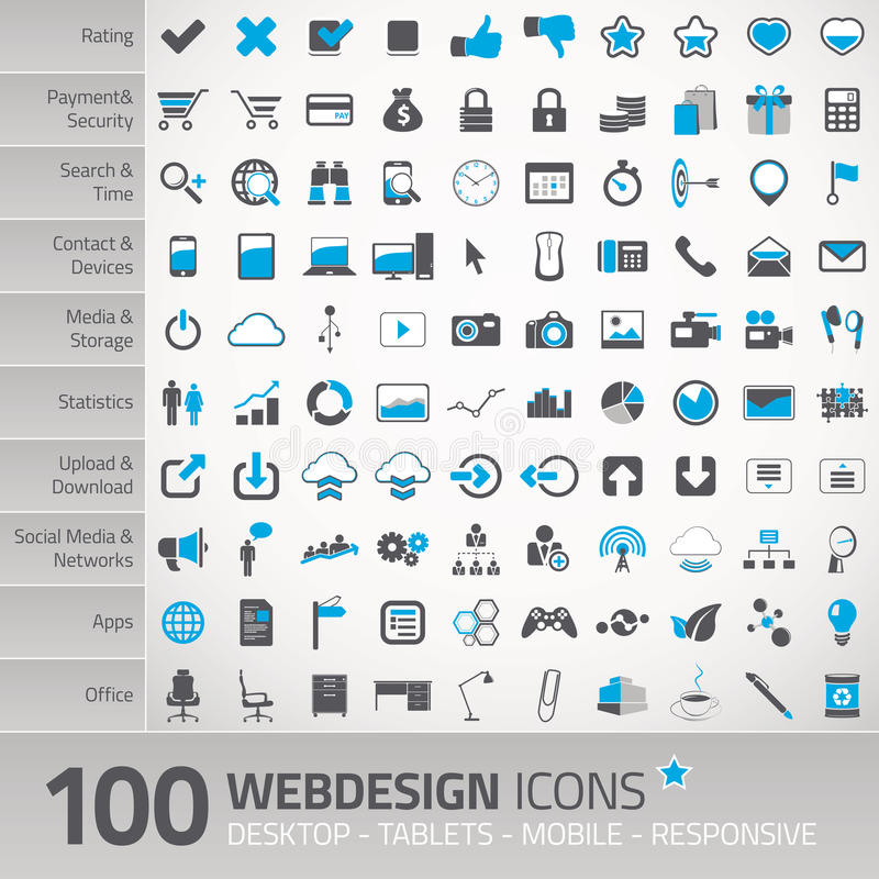 Set of universal icons for webdesign vector illustration