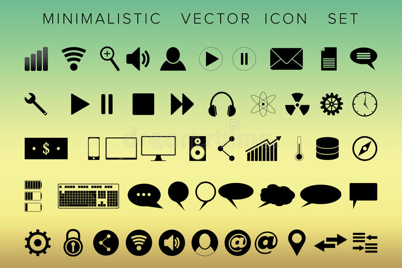 Set of universal modern icons for web and mobile vector illustration