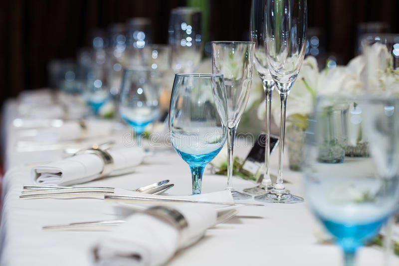 Download Set Up Wine Glass On The Table For Dinner Stock Image - Image of classic & Set Up Wine Glass On The Table For Dinner Stock Image - Image of ...
