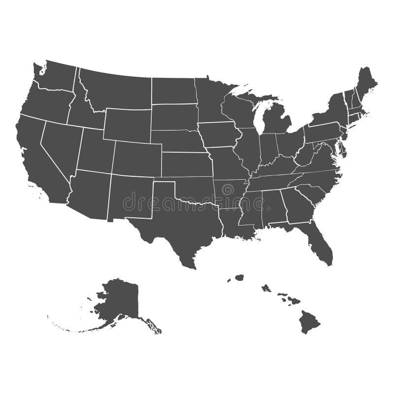 Set of US states stock illustration