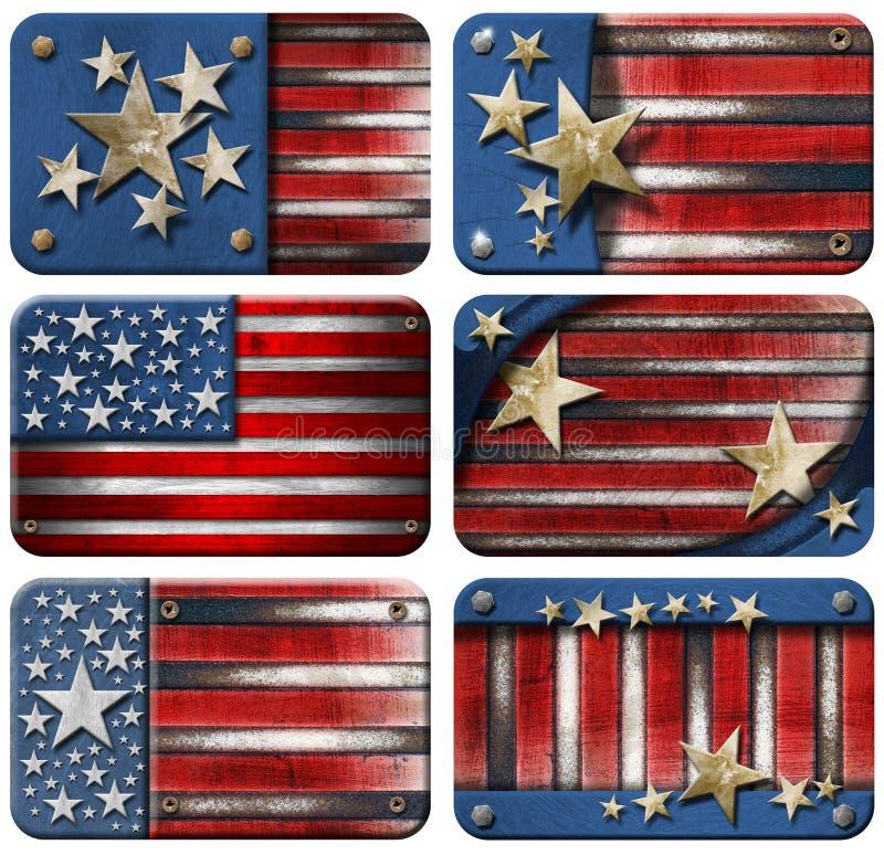 Download Set Of USA Grunge Flags Stock Image - Image: 26441161