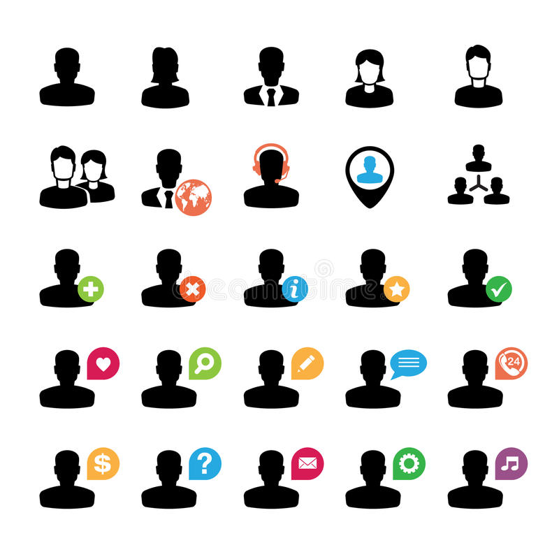 Download Set of user icons stock vector. Illustration of people - 26587710