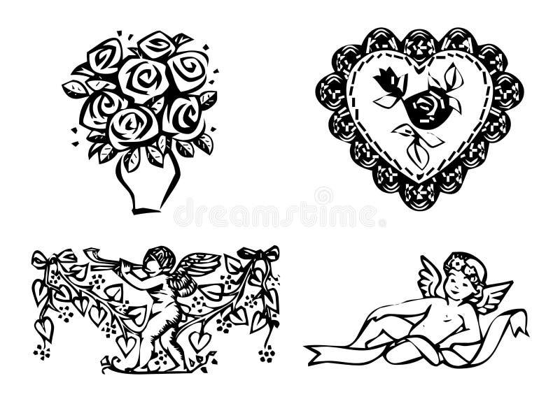 set valentin för dag s royaltyfri illustrationer