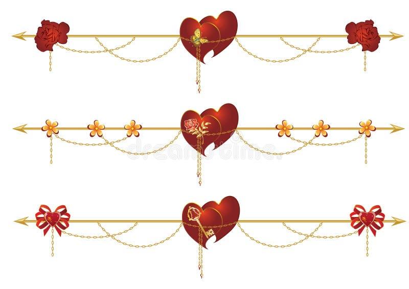 Set valentine dividers ilustracji